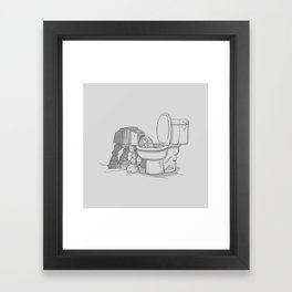 Bad, bad Walker Framed Art Print