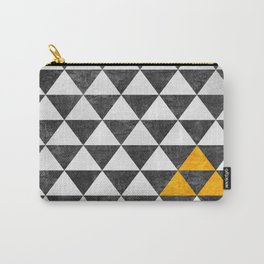 Triangle - Yellow III Carry-All Pouch