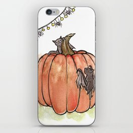 Baby Bats at the Pumpkin Patch iPhone Skin