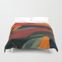 Lessons To Learn Abstract Landscape Duvet Cover