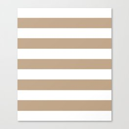 Tamarind - solid color - white stripes pattern Canvas Print