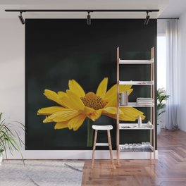 Bright Yellow And Black Wall Mural