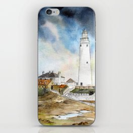 St. Mary's Lighthouse iPhone Skin