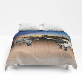 Bulls Night Out Comforters
