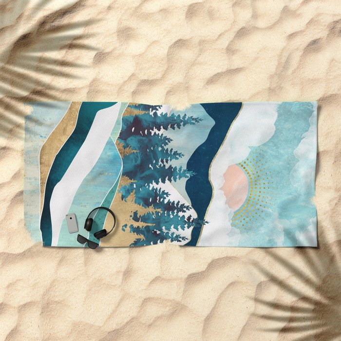Summer Forest Beach Towel