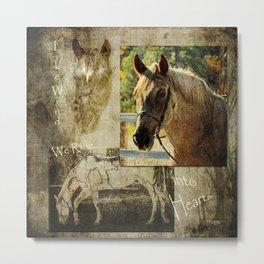 Horses Hearts Metal Print