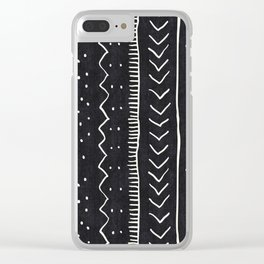 Moroccan Stripe in Black and White Clear iPhone Case
