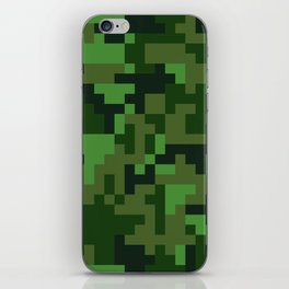 Green Jungle Army Camo pattern iPhone Skin