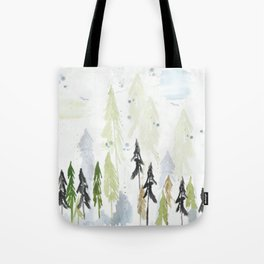 Into the woods woodland scene Tote Bag
