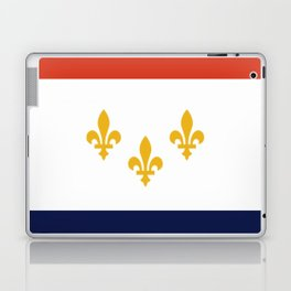 flag of new orleans,NOLA,Crescent City,Big Easy,Nawlins, jazz,Lousiana,french,cajun,treme Laptop & iPad Skin