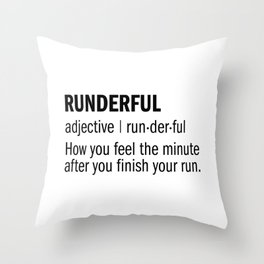 RUNDERFUL Throw Pillow