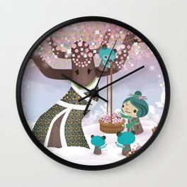 Cloudseeders Spring Harvest Wall Clock