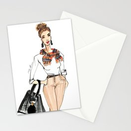 Fall Print, Fashion Print, Fashion Illustration Print, Pinales Illustrated Stationery Cards