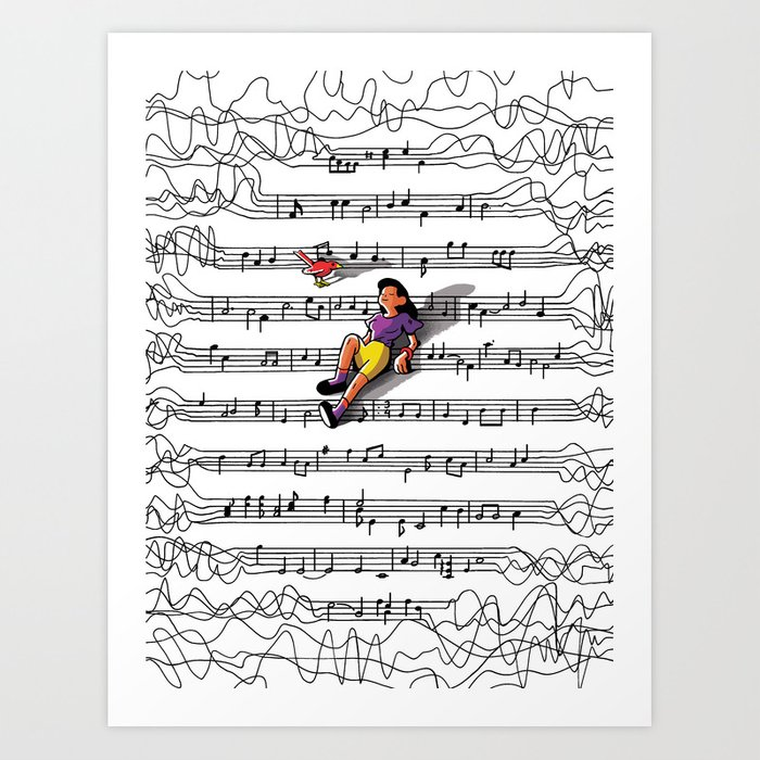 """""""Noise to Music"""" by Jackie Ferrentino for Nautilus Art Print"""