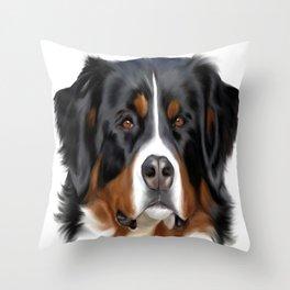 BERNESE MOUNTAIN DOG ART Throw Pillow