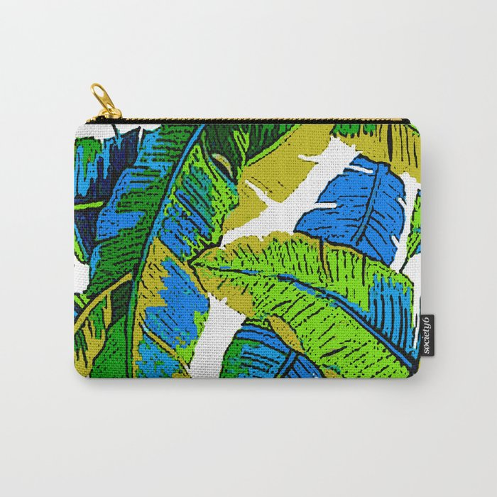 BANANA PALM LEAF PARADISE Carry-All Pouch