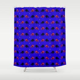 Cute Devil Pattern Shower Curtain