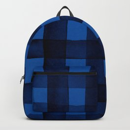 Buffalo Plaid Watercolor in Blue Backpack