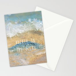 Breathe in the Ocean Stationery Cards