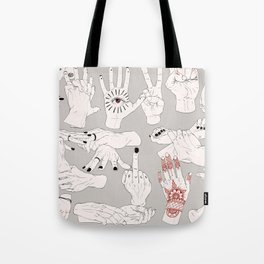 Hands / Composition - Gray version Tote Bag