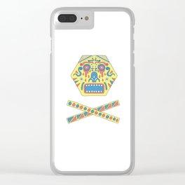 Colourful scream Clear iPhone Case