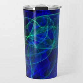 Abstract smoke of colors. Pattern of soft waveforms. Travel Mug