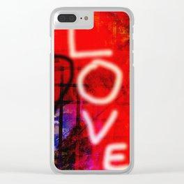 Love Graffiti Clear iPhone Case