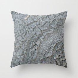 TEXTURES -- California Bay Tree Bark Throw Pillow