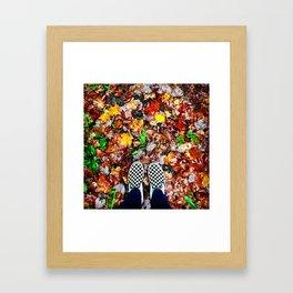 Checkers on Autumn Framed Art Print