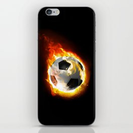 Soccer Fire Ball iPhone Skin