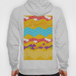 Summer bright pattern  scales simple Nature background with Chinese wave circle pattern Hoody