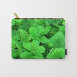 Lucky Four Leaf Clover Carry-All Pouch