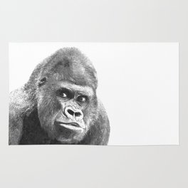 Black and White Gorilla Rug
