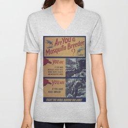 Vintage poster - Mosquito breeder Unisex V-Neck