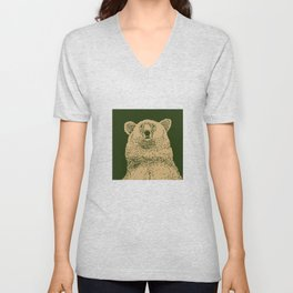Kodiak Bear Unisex V-Neck