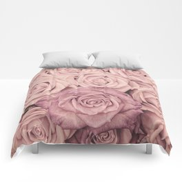 Some People Grumble - Pink Rose Pattern - Roses Comforters