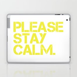 Please Stay Calm Logo Laptop & iPad Skin