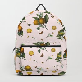 Oranges and Butterflies in Blush Backpack