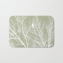 White Bird in White Tree - Moss A593 Bath Mat