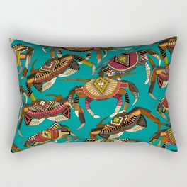 crabs teal Rectangular Pillow