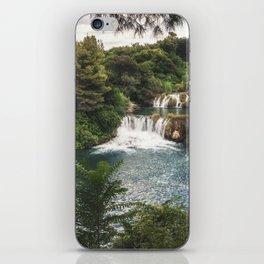 Krka National Park - waterfall Skradinski buk in Croatia iPhone Skin