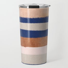 Stripes abstract minimalist painting bronze copper gold metallic stripe pattern decor nursery Travel Mug