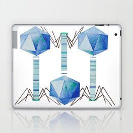 Bacteriophage 2, Science art, science, virus, microbiology, virology, geekery, science illustration Laptop & iPad Skin