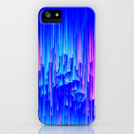 Neon Rain - A Digital Abstract iPhone Case