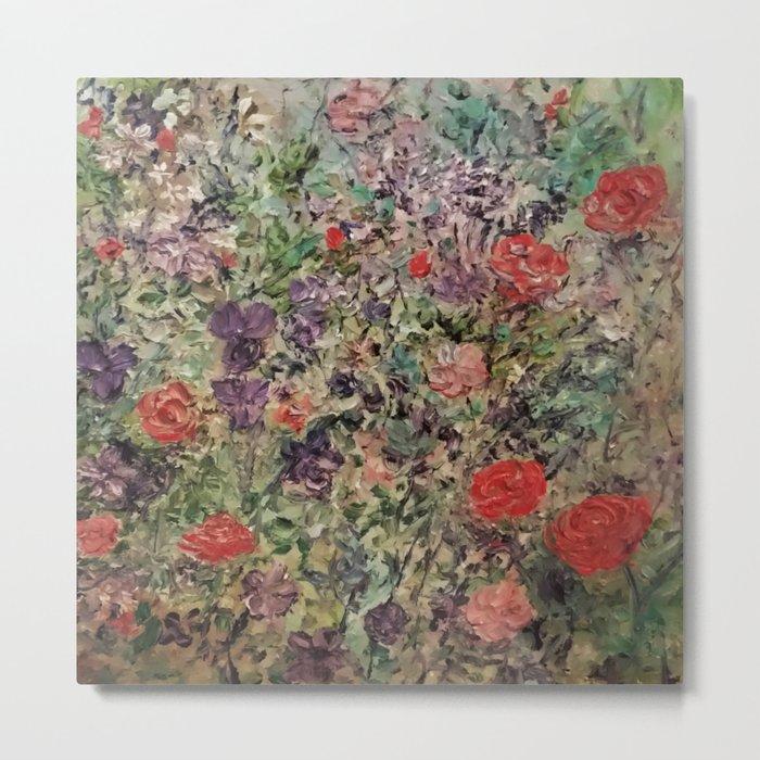 Red Rose Garden Metal Print