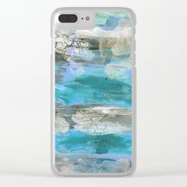 ROCK STUDY IN BLUES Clear iPhone Case