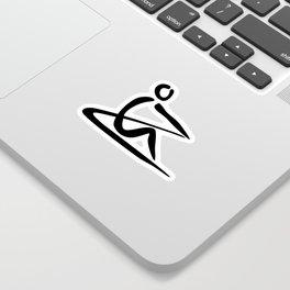 Rowing Logo 1 Sticker