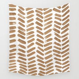 Gold Chevron Wall Tapestry