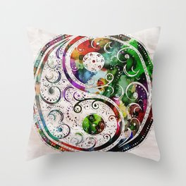 Yin and Yang Balance Poster Print by Robert R Throw Pillow