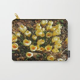 Yellow Croci Welcoming the Day Carry-All Pouch